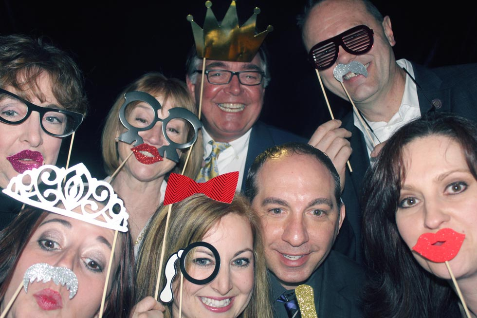 Real Estate Agents having fun in the photo booth at the 2017 Ozzie Awards Ceremony